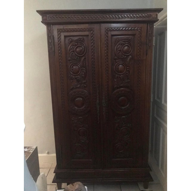 Antique French Country Armoire For Sale - Image 11 of 11