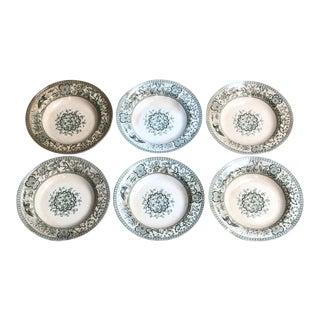 6 Antique English Bowls Davenport Iolanthe Aesthetic Movement For Sale