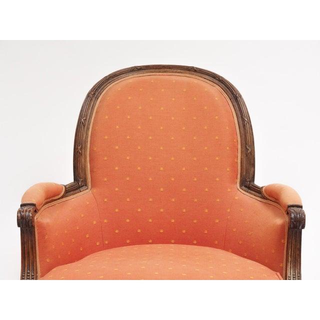 """Louis XVI Style Bergere """"En Gondole"""" For Sale - Image 4 of 9"""