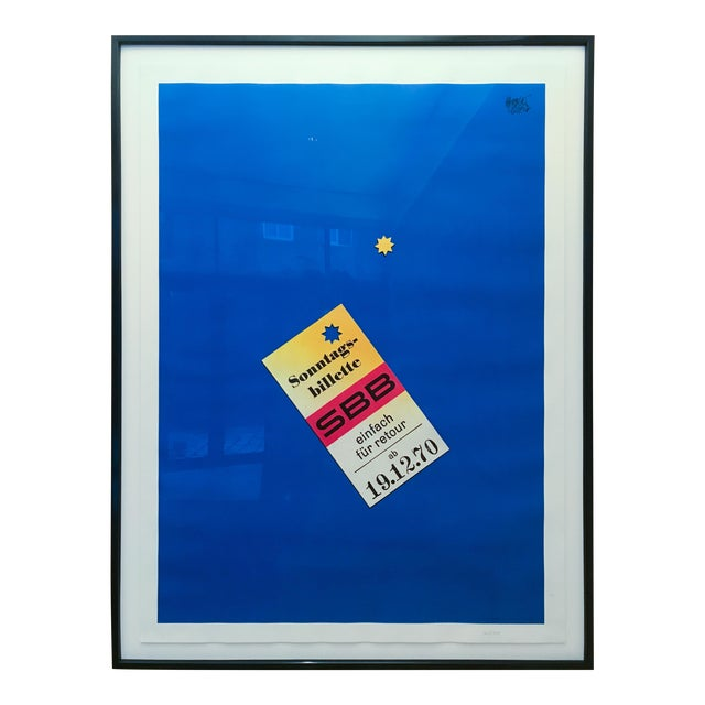 "Herbert Leupin Poster ""Sonntags Billette Sbb"" For Sale"