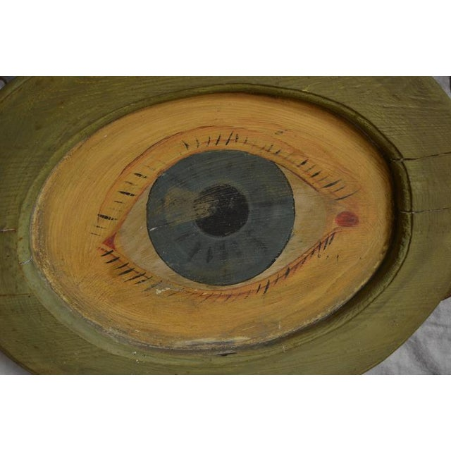 Antique Hand-Painted Wood Optician Sign - Image 5 of 10