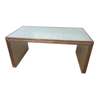 20th Century Hollywood Regency Mirror Coffee Table For Sale