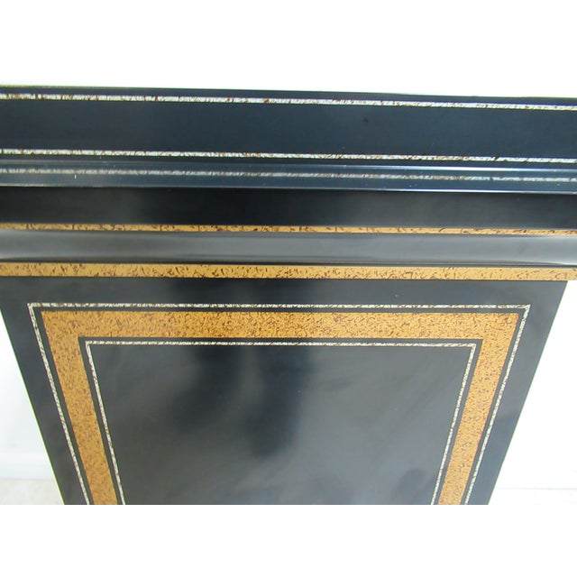 Modern Maitland Smith Black Ebonized Lamp End Table For Sale In Philadelphia - Image 6 of 13