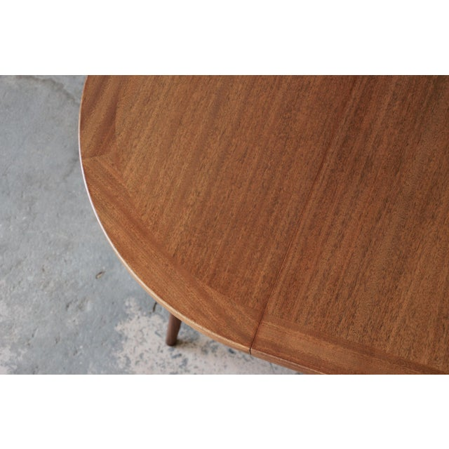 Harvey Probber Mid-Century Modern Mahogany Saber Leg Extension Dining Table For Sale - Image 11 of 12