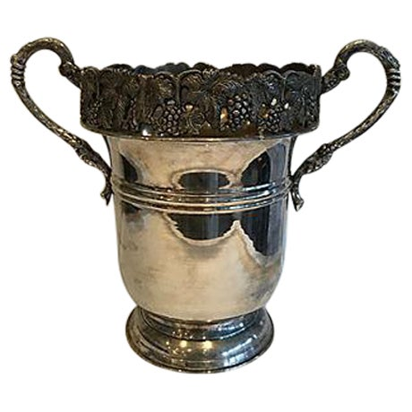Ornate Silver Champagne Bucket For Sale
