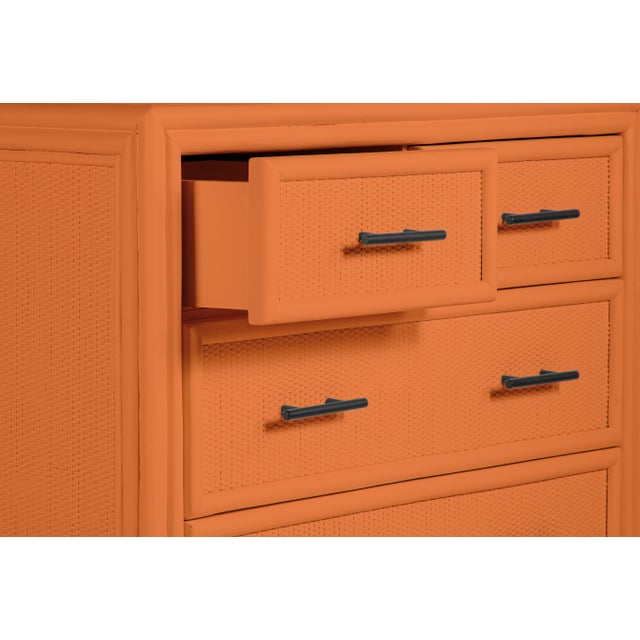 David Francis Bermuda Four-Drawer Chest - Orange For Sale - Image 4 of 5