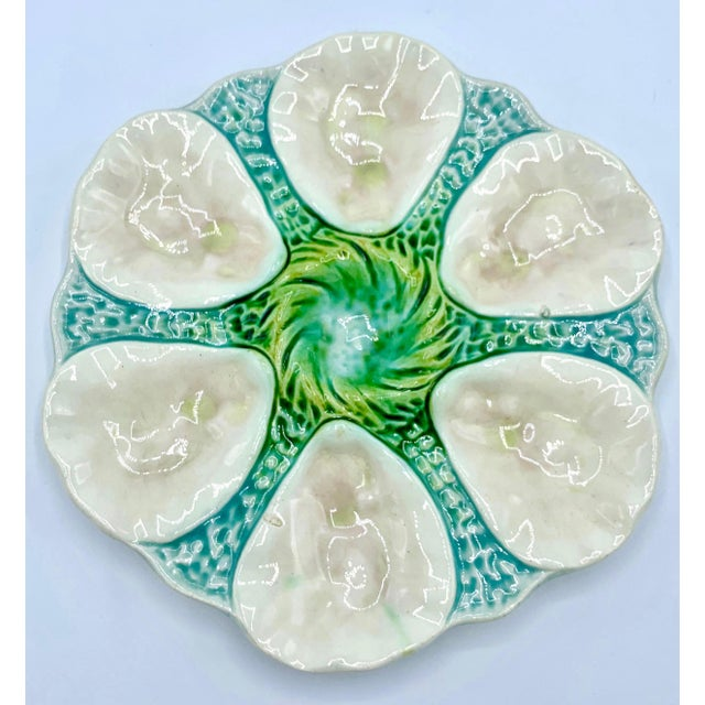 Antique Orchies French Majolica Pink Shell Oyster Plate, Circa 1900s For Sale - Image 6 of 6