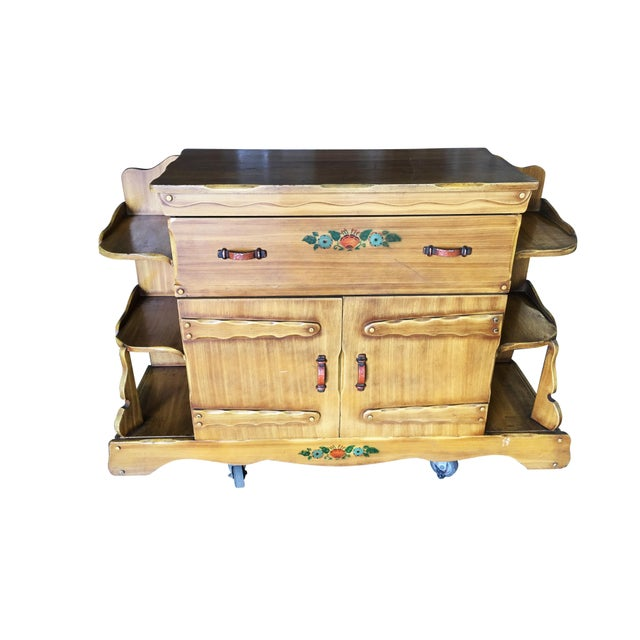 """Atomic Age """"La Fiesta"""" Western sideboard cabinet by world famous California company Monterey Furniture Company. The..."""