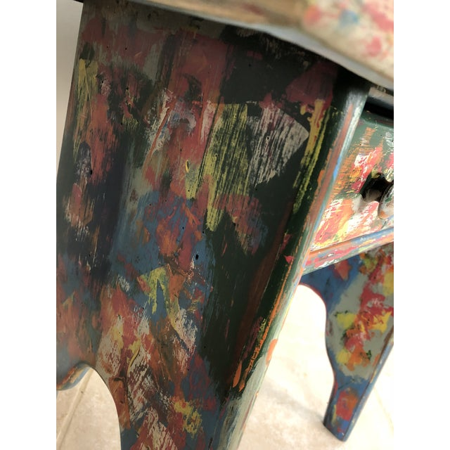 1990s Industrial Bohemian Accent Table For Sale - Image 5 of 9