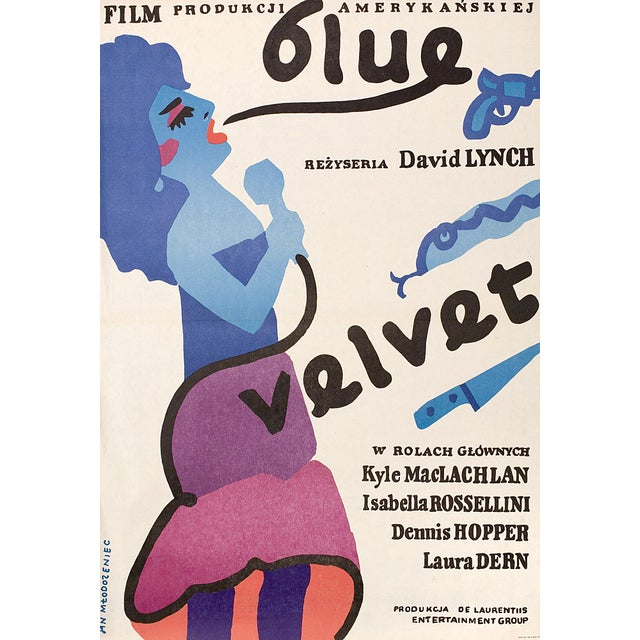 """Blue Velvet"" 1986 Polish Movie Poster - Image 1 of 2"