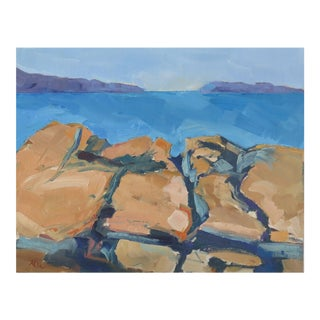 Maine Rock Series 2 Oil Painting