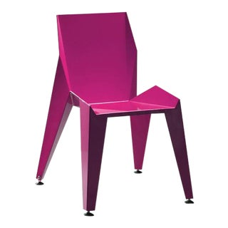 Origami Inspired Edge Purple Chair | Indoor & Outdoor Chair For Sale
