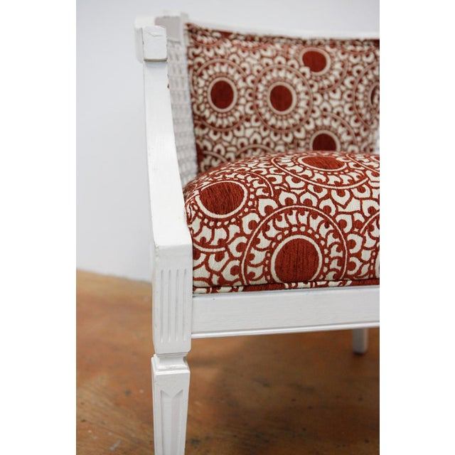 Cinnamon Mid-Century Rust & White Side Chairs - a Pair For Sale - Image 8 of 8