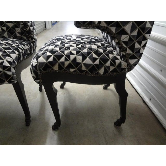 James Mont Inspired Ebonized Chairs With Hoof Feet-A Pair For Sale In Houston - Image 6 of 13