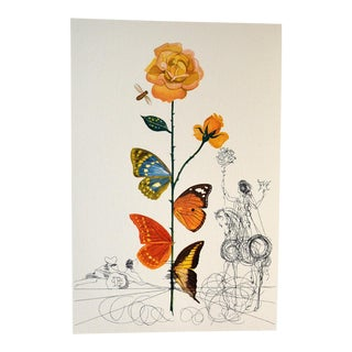 """Salvador Dalí """"Rosa Papillo"""" From Flora Dallinae Print For Sale"""