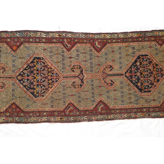 Wool pile genuine hand woven antique North west Persian rug-