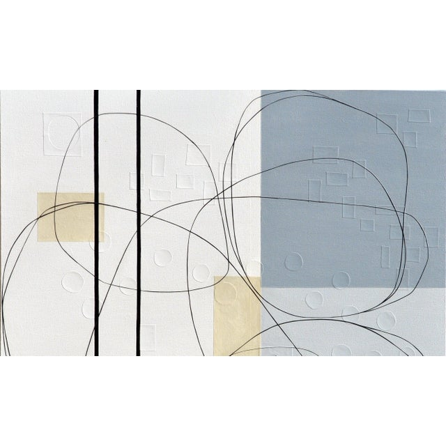 Contemporary Maura Segal Intersections Gray White Modern Painting 2018 For Sale - Image 3 of 6