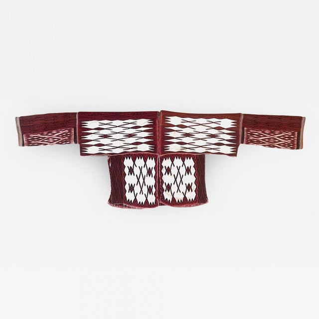 A large and impressive cape worn during ceremonial dancing by Miao people from Guizhou Province, China circa 1940s-1960s...