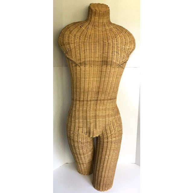 This is a wonderful wicker sculpture of a torso. It is in perfect condition! I love how it stands on it's own and has...