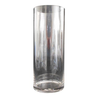 Cylindrical Clear Glass Vase