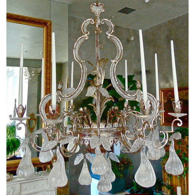 Early 20th century English cut crystal chandelier --in character of Royal Brierley crystal --All original, handout and in...
