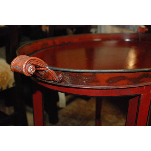 English Red Oval Table Tray - Image 6 of 8