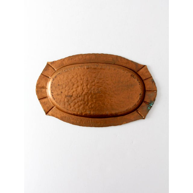Mid-Century Hammered Copper Tray For Sale - Image 4 of 9