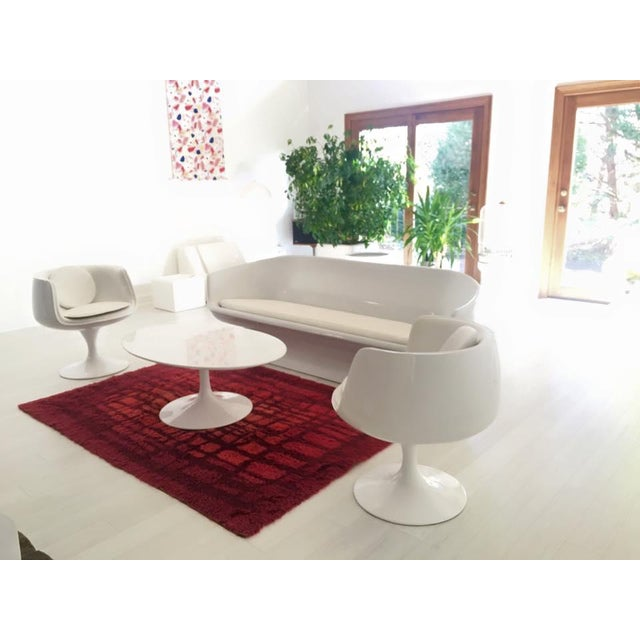 Mid-Century Modern Vintage Eero Aarnio Space Age Cognac Chairs- a Pair For Sale - Image 3 of 4