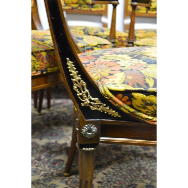 Beautiful, high quality set,decoratively abonized with applied ormolu and reeded legs terminating in a gilted balls. This...