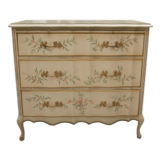 Painted Three-Drawer Chest of Drawers with Brush Slide