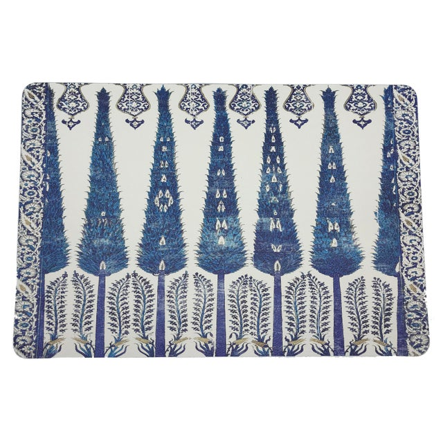 Islamic Nicolette Mayer Topkapi Garden Classic 17 Rectangle Pebble Placemats, Set of 4 For Sale - Image 3 of 3