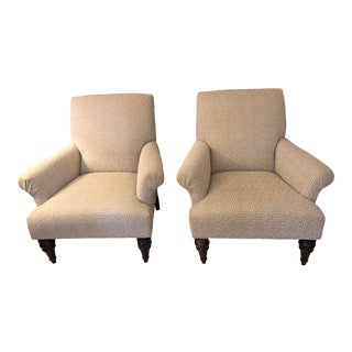 Custom Sam Moore Accent Chairs- A Pair For Sale