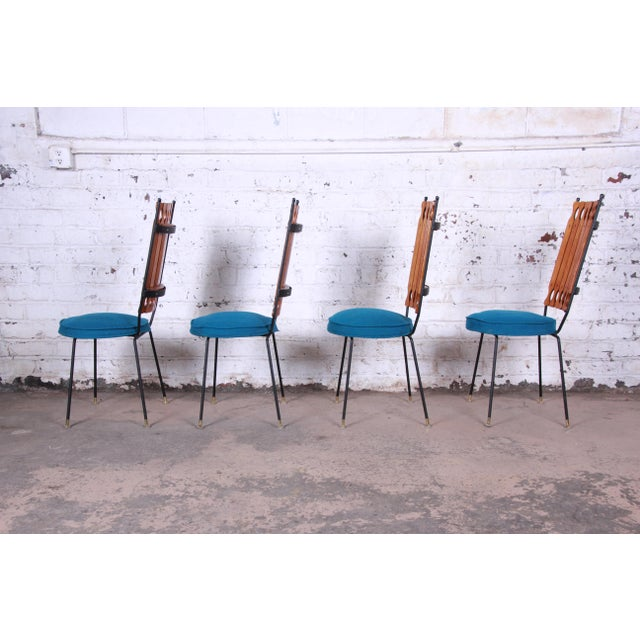 Shaver Howard Arthur Umanoff for Shaver-Howard Mid-Century Modern High Back Dining Chairs, Set of Four For Sale - Image 4 of 9