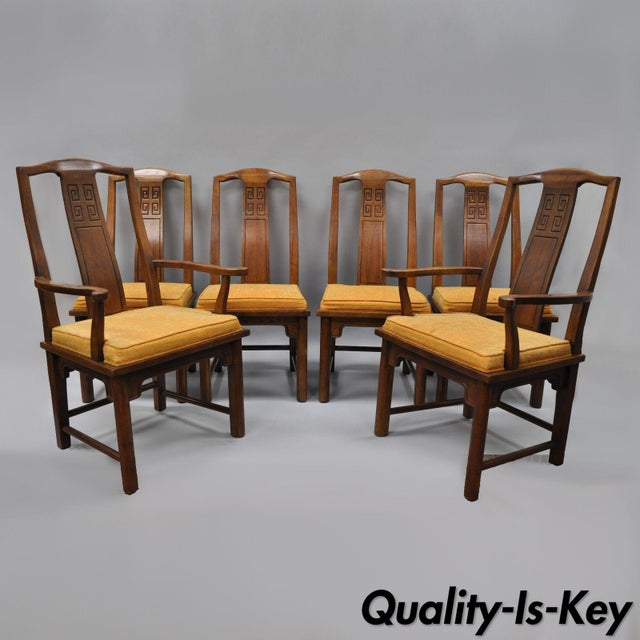Set of 6 Vintage Oriental James Mont Style Dining Chairs by Century Mid Century Modern For Sale - Image 13 of 13