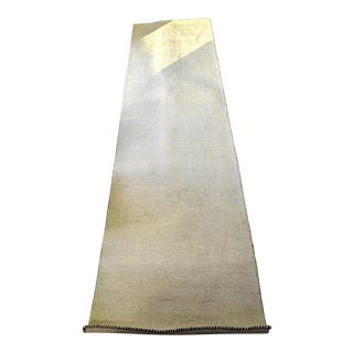 Contemporary Beige Woolen Gabbeh Runner Rug - 2′7″ × 9′10″ For Sale