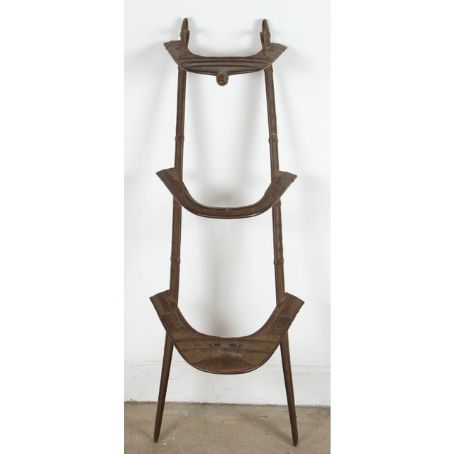Antique Camel, Dromadaire Brass and Iron Saddle For Sale In Los Angeles - Image 6 of 10