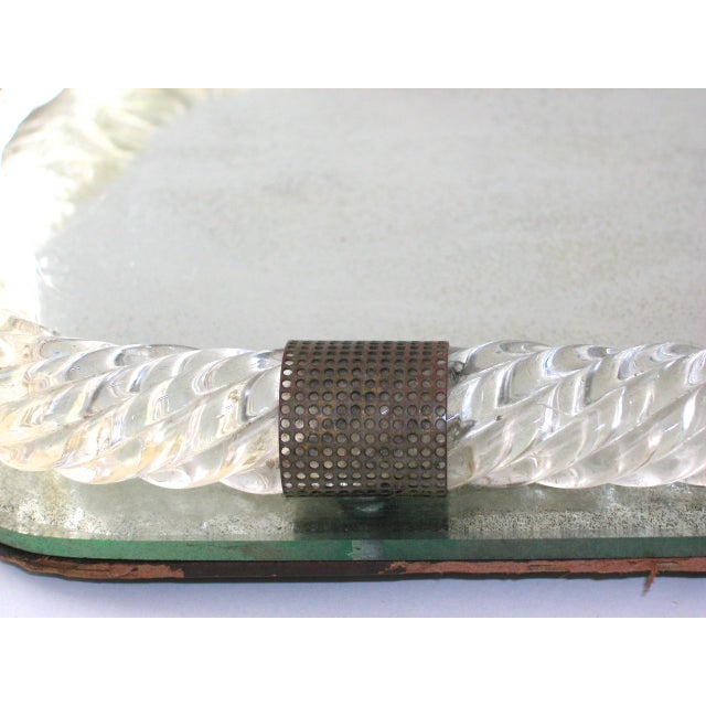 Antique Murano Twisted Glass Rope Vanity Tray For Sale In New York - Image 6 of 10