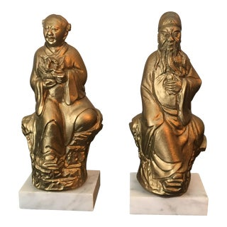 Asian Oriental Bookends - a Pair