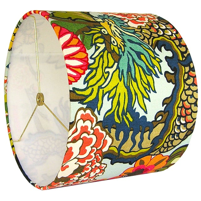 Not Yet Made - Made To Order Aquamarine Chiang Mai Dragon Drum Shade For Sale - Image 5 of 7