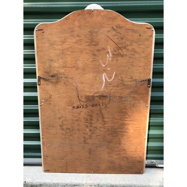 1950s French Provincial Wall Mirror For Sale - Image 5 of 6