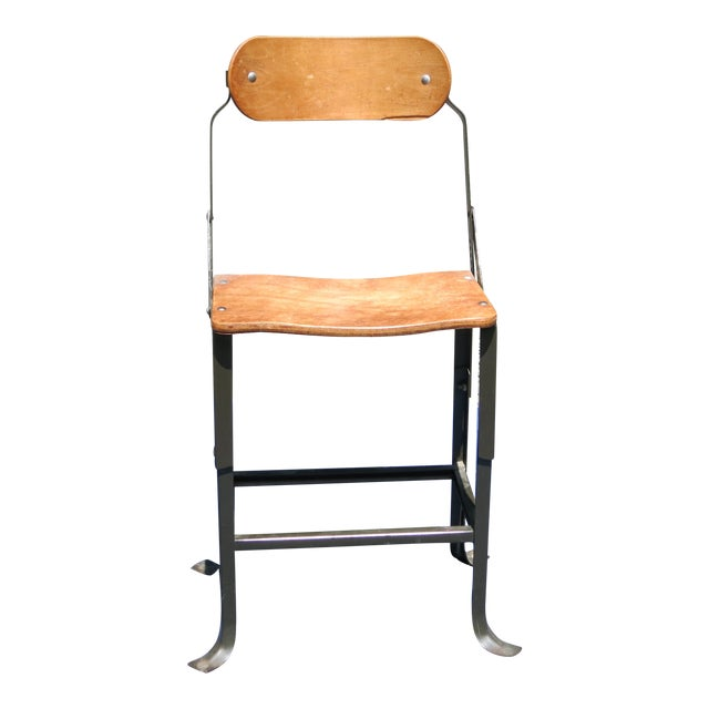 1940s Vintage Industrial Bent Plywood Chair For Sale