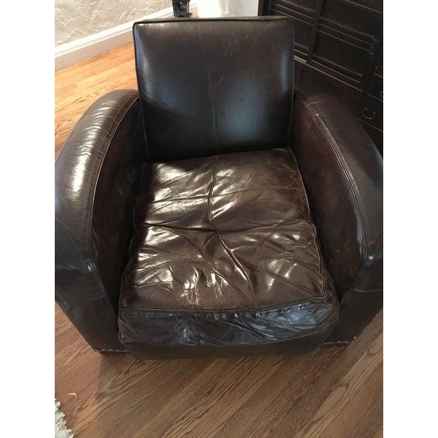 Restoration Hardware Leather Chair: Restoration Hardware Library Leather Chair