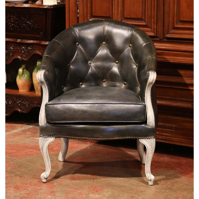 Complete your living room, study or office with this comfortable, Louis XV style armchair. Crafted in France circa 1870,...
