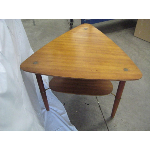 Danish Modern Kresten Buch Danish Modern Guitar Pick Side Table For Sale - Image 3 of 7