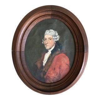 Antique Thomas Jefferson Oval Oil Portrait For Sale