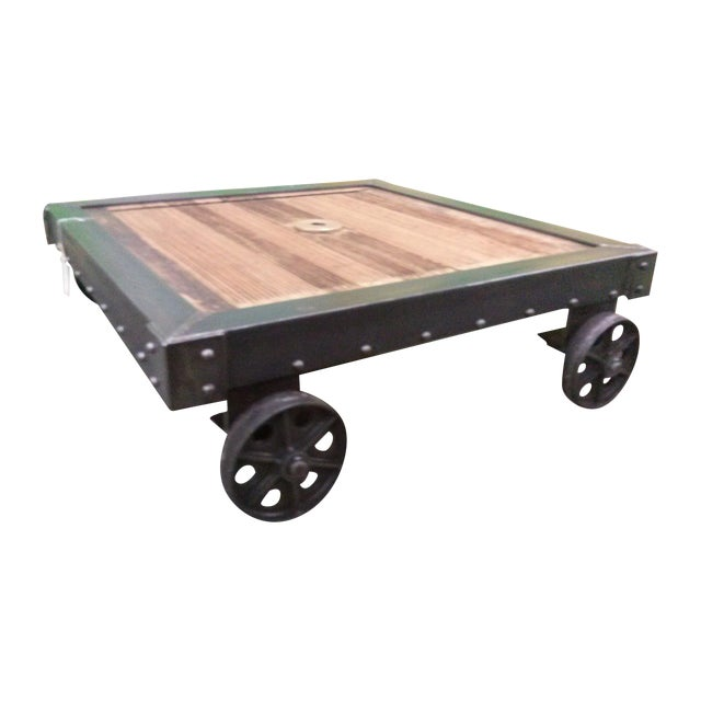 Antique Industrial Cart Coffee Table: Industrial French Dolly Cart Vintage Coffee Table