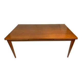 Mid Century Teak Extension Dining Table by Niels Otto Møller For Sale