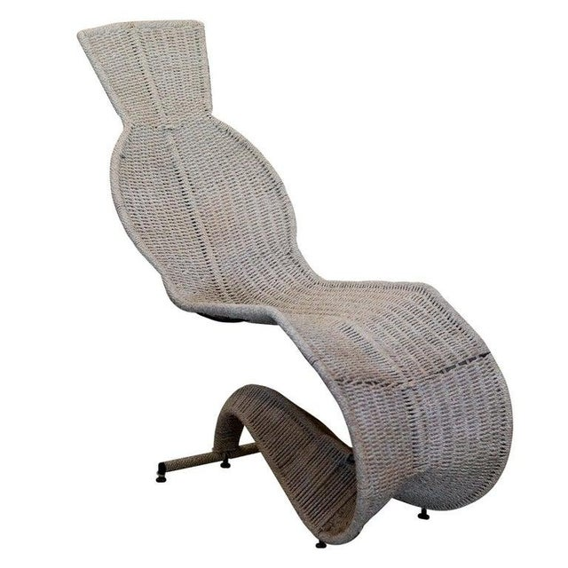 Wicker Dixon Bolide Wicker Chaise, London, 1991 For Sale - Image 7 of 7