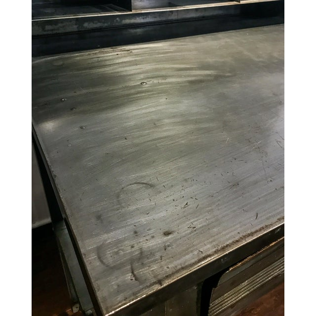 Industrial 1970s Industrial Metal Shipping and Receiving Desk For Sale - Image 3 of 8