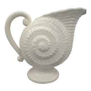 Vintage Japanese Ivory Shell Pitcher Vase